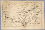 Route of Marches of the Army of Genl. W.T. Sherman From Atlanta, Ga. to Goldsboro, N.C.