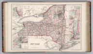 New York. By Frank A. Gray. (inset) Niagara River and Vicinity. (inset) Vicinity of New York. (inset) Map of the Hudson River from New York to Saratoga Springs.