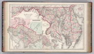 Maryland, Delaware, and the District of Columbia. By Frank A. Gray. Copyright 1876 by O.W. Gray & Son. (inset) Wilmington, Delaware. (inset) Annapolis Harbor and Environs. (inset) Annapolis, the Capital of Maryland.