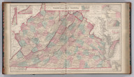 Gray's New Topographical Map of Virginia and West Virginia. By Frank A. Gray. (inset) Environs of Harpers Ferry. (inset) Hampton Roads and the Approaches. (inset) Hypsometric Sketch of Virginia and West Virginia. (inset) Norfolk Harbor. Philadelphia: O.W. Gray & Son.
