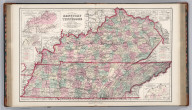 Gray's New Map of Kentucky and Tennessee. By Frank A. Gray. (inset) Outline Map of Kentucky and Tennessee Illustrating the System of Railroads. (inset) Hypsometric Sketch of Kentucky and Tennessee by A. Guyot & C.A. Guyot. (inset) (stacked bargraph) Comparative Increase of Population of Kentucky by Decennial Periods (1790-1870). (inset) (stacked bargraph) Comparative Increase of Population of Tennessee by Decennial Periods (1790-1870). (inset) Outline Map of Kentucky and Tennessee Illustrating the Density of Population from the Census of 1870.