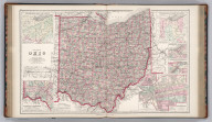 Gray's New Map of Ohio. By Frank A. Gray. Philadelphia: O.W. Gray & Son. (inset) Physical Map of Ohio. (inset) Vicinity of Cincinnati. (inset) Historical Map of Ohio. (inset) Vicinity of Cleveland. (inset) Vicinity of Toledo. (inset) City of Columbus , the Capital of Ohio.