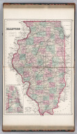 Illinois. (inset) Plan of Cook County & Vicinity of Chicago.