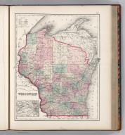Wisconsin. (inset) Vicinity of Milwaukee.