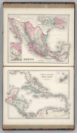 Mexico. (inset) Mexico (City) to Vera Cruz. (inset) The Isthmus of Tehuantepec. West Indies and Central America. (inset) The Bermuda Islands.
