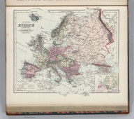 Gray's New Map of Europe. By Frank A. Gray. (inset) Outline Ethnographical Map of Europe.