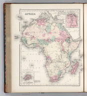 Africa. (inset) Island of St. Helena. (inset) Delta of the Nile. Drawn by F.A. Gray. Engraved by J.M. Atwood.