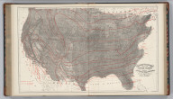 Climatological Map of the United States Showing Average Temperature, Amount of Rain Fall &c. by Lorin Blodget.