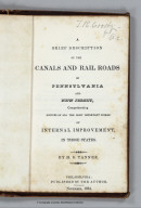 Title page: Canals And Rail Roads Of Pennsylvania And New Jersey