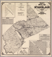 Map Of The County Of Stanislaus, California 1906