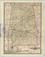 Railroad And County Map Of Alabama