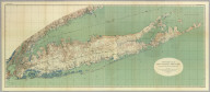 Topographical Map Of Long Island, New York. Engraved From U.S. Geological Survey Topographic Sheets ... 1913. Julius Bien Co. Lith. N.Y. U.S. Geological Survey, George Otis Smith, Director. Professional Paper 82 Plate II.