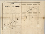 Map of the proposed line of Montgomery Avenue