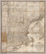A Map of the New England States, Maine, New Hampshire, Vermont, Massachusetts, Rhode Island & Connecticut, With the adjacent parts of New York & Lower Canada. Compiled and Published By Nathan Hale, Boston 1826. Engraved by J.V.N. Throop. Revised Edition of 1853. Corrected by the addition of the Railroads, new towns, & other public improvements, to Feby. 1853. Entered ... February 1853, by Nathan Hale ... Massachusetts. (inset) Northern & Eastern Part Of Maine And Part Of Lower Canada And New Brunswick. With Corrections in 1853.