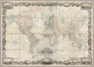 Colton's Illustrated & Embellished Steel Plate Map of The World On Mercator's Projection, Compiled from the latest & most Authentic Sources Exhibiting the recent Arctic and Antarctic Discoveries & Explorations. Compiled, Drawn & Engraved By D.G. Johnson. Published By J.H. Colton And Co. No. 172 William St. New York. 1857. Entered ... 1848 by J.H. Colton ... New York. Entered ... 1846 by D. Griffing Johnson ... New York.