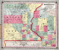 Map Of Minnesota And Part Of Wisconsin.
