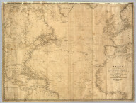 Chart Of The North Atlantic Ocean, From the Equator to 65° North Latitude. According to the Latest Surveys & Observations. New York, Published by E. & G.W. Blunt, 154 Water St. Corner of Maiden Lane. 1832. Entered ... 1832, by Edmund & George W. Blunt ... New York. Additions to 1835. Engraved by W. Hooker. Lettered by D.R. Harrison. (with) three inset maps listed in Notes.
