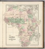 Gray's Atlas Map of Africa, 1873.