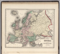 Gray's Atlas Map of Europe.
