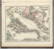 Central America. West Indies. (inset) Isthmus of Panama. (inset) City & Harbor of Havana.