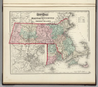 Gray's Atlas Map of Massachusetts and Rhode Island. (inset) Vicinity of Boston.