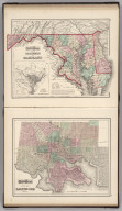 Gray's Atlas Map of Delaware and Maryland. (inset) District of Columbia (Washington D.C.).Gray's Atlas City of Baltimore.