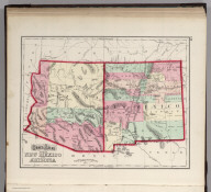 Gray's Atlas Map of New Mexico and Arizona.