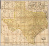 Railroad and County Map Of Texas 1906. Issued By The Railroad Commission of Texas. Commissioners: L.J. Storey, Chairman. Allison Mayfield. O.B. Colquitt. E.R. McLean, Secretary. Compiled And Drawn By R.A. Thompson, C.E. Woodward & Tiernan Ptg Co. Map Engravers St. Louis, Mo.