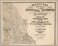 Official Map of Sonoma County, California