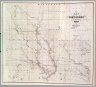 Map Of The Fort Dodge Land District, Iowa.