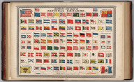 Johnson's New Chart of National Emblems (flags). 3. 4. Pubished by A. J. Johnson & co., N.Y.. Entered according to the Act of Congress, in the year 1868, by A.J. Johnson in the Clerk's Office of the District Court of the United States for the Southern District of New York.