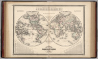 Johnson's Globular World, Published by Alvin J. Johnson & Co., New York. 16. 17. Western Hemisphere. Eastern Hemisphere. Entered according to the Act of Congress, in the year 1867, by A.J. Johnson in the Clerk's Office of the District Court of the United States for the Southern District of New York.