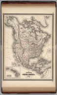Johnson's North America. Published by Alvin J. Johnson & Co., New York. 20. 21. Entered according to the Act of Congress, in the year 1867, by A.J. Johnson in the Clerk's Office of the District Court of the United States for the Southern District of New York.