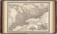Johnson's Ontario of the Dominion of Canada. Published by Alvin J. Johnson & Co., New York. 22. 23. Entered according to the Act of Congress, in the year 1867, by A.J. Johnson in the Clerk's Office of the District Court of the United States for the Southern District of New York.