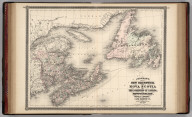 Johnson's New Brunswick and Nova Scotia of the Dominion of Canada, also Newfoundland, Prince Edward and Cape Breton Is. Published by Alvin J. Johnson & Co., New York. 26. 27. Entered according to the Act of Congress, in the year 1867, by A.J. Johnson in the Clerk's Office of the District Court of the United States for the Southern District of New York.