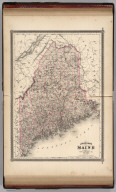 Johnson's Maine. Published by Alvin J. Johnson & Co., New York. 30. 31. Entered according to the Act of Congress, in the year 1866, by A.J. Johnson in the Clerk's Office of the District Court of the United States for the Southern District of New York.