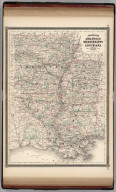 Johnson's Arkansas, Mississippi, and Louisiana. Published by Alvin J. Johnson & Co., New York. 56. 57. Entered according to the Act of Congress, in the year 1866, by A.J. Johnson in the Clerk's Office of the District Court of the United States for the Southern District of New York.