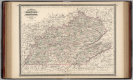 Johnson's Kentucky and Tennessee. Published by Alvin J. Johnson & Co., New York. 60. 61. Entered according to the Act of Congress, in the year 1865, by A.J. Johnson in the Clerk's Office of the District Court of the United States for the Southern District of New York.