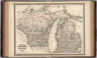 Johnson's Wisconsin and Michigan. Published by Alvin J. Johnson & Co., New York. 68. 69. Entered according to the Act of Congress, in the year 1864, by A.J. Johnson in the Clerk's Office of the District Court of the United States for the Southern District of New York.