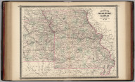 Johnson's Missouri and Kansas. Published by Alvin J. Johnson & Co., New York. 70. 71. Entered according to the Act of Congress, in the year 1865, by A.J. Johnson in the Clerk's Office of the District Court of the United States for the Southern District of New York.
