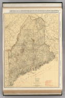 Commercial Atlas of America. Rand McNally Standard Map of Maine.