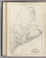 Commercial Atlas of America. Rand McNally Black and White Mileage Map, Maine.