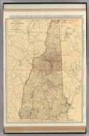 Commercial Atlas of America. Rand McNally Standard Map of New Hampshire.