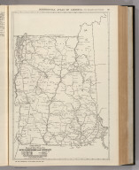 Commercial Atlas of America. Rand McNally Black and White Mileage Map, New Hampshire and Vermont.