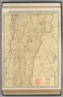 Commercial Atlas of America. Rand McNally Standard Map of Vermont.
