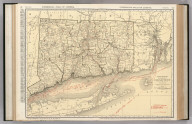 Commercial Atlas of America. Rand McNally Standard Map of Connecticut.