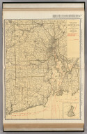Commercial Atlas of America. Rand McNally Standard Map of Rhode Island. (with) Block Island.