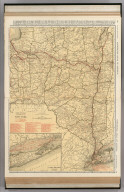 Commercial Atlas of America. Rand McNally Standard Map of New York (eastern section). (with) Long Island Extension.