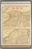 Commercial Atlas of America. Rand McNally Standard Map of New York (western and northern sections).