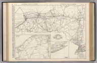 Commercial Atlas of America. Rand McNally Black and White Mileage Map, New York.